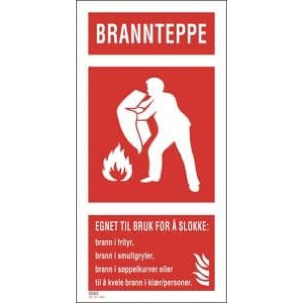 BRANNSKILT BRANNTEPPE 12,5X20CM 1