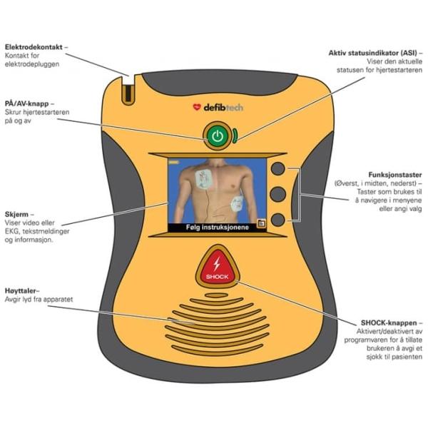 Hjertestarter DefibTech Lifeline VIEW ML 4