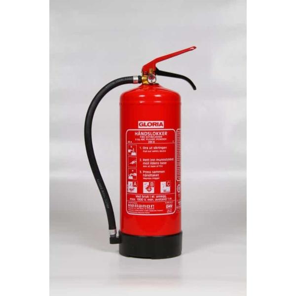 Brannslukker 6kg Gloria PD6G Pulver 43A 233BC m/brakett 1